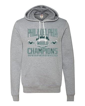 Amazon.com  Adult Philadelphia 2018 World Champions Football Champs Deluxe  Super Soft Sweatshirt Hoodie  Clothing 0baad5f6d