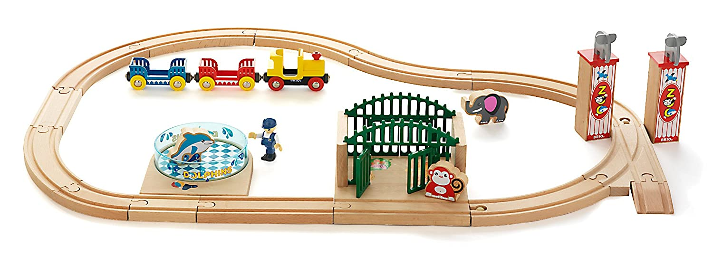 Brio 33008 Wooden Railway Zoo Garden Set