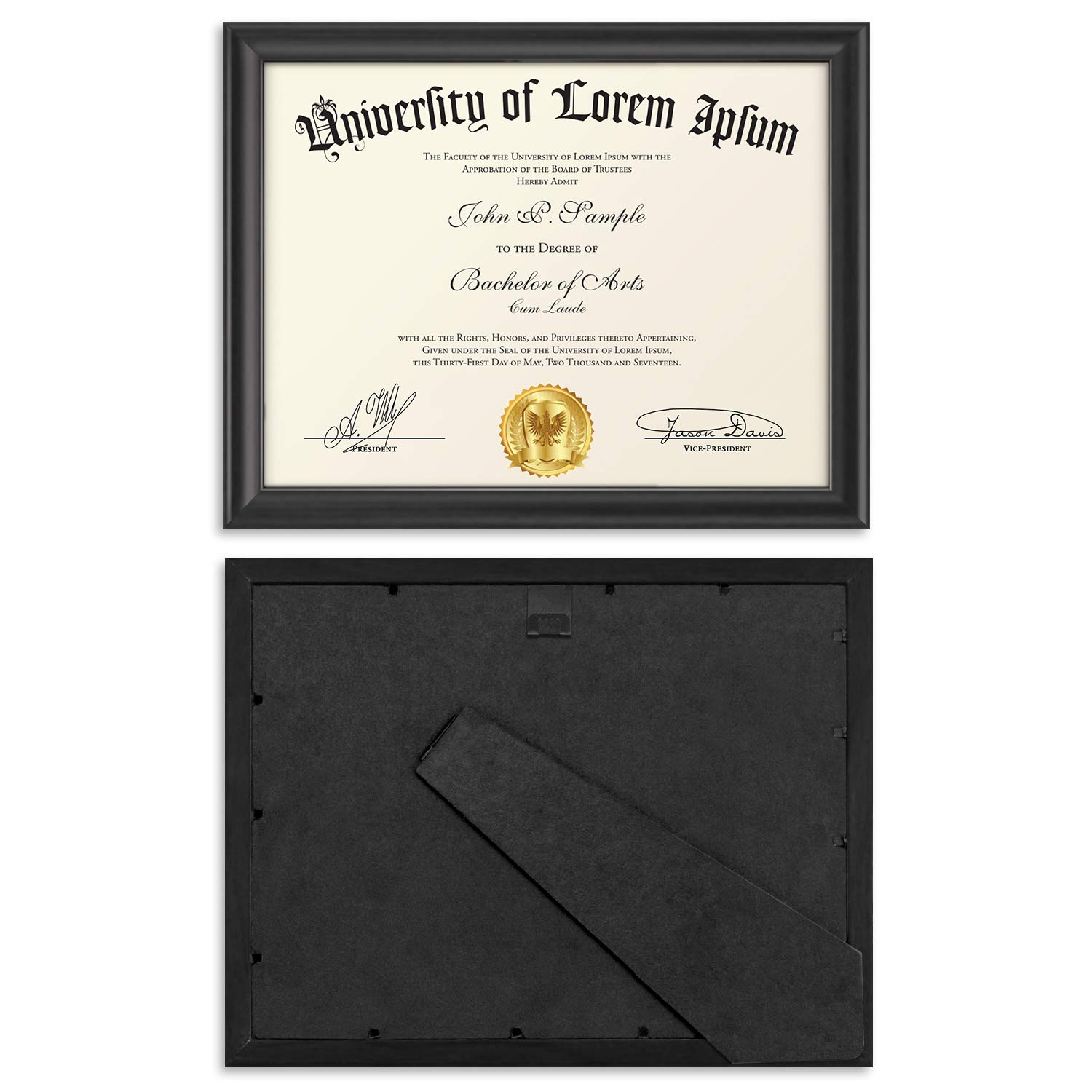 Icona Bay 8.5x11 Document Frame (12 Pack, Black), Black Certificate Frame 8.5 x 11, Composite Wood Diploma Frame for Walls or Tables, Set of 12 Lakeland Collection by Icona Bay (Image #5)