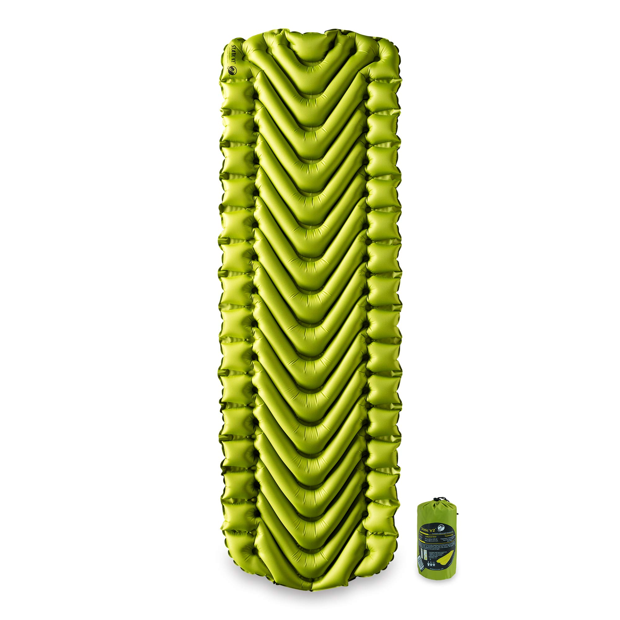 Klymit Static V2 Sleeping Pad, Ultralight, (12% Lighter), Great for Camping, Hiking, Travel and Backpacking by Klymit