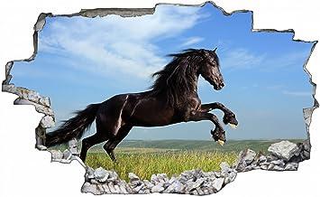 3D Wandsticker Wanddeko Wandtattoo Wandaufkleber Tiere Pferde