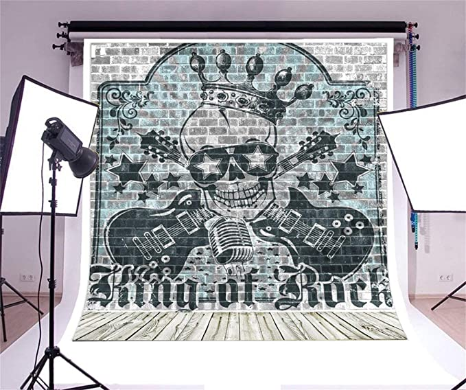 Amazon.com: aofoto Hard Rock Música fondo Graffiti Grunge ...