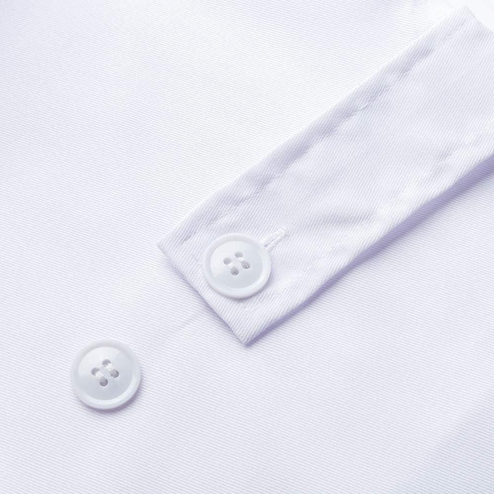 Icertag Camice Bianco da Laboratorio Medico Lavoro da Unisex Uomo Donna qualit/à Superiore