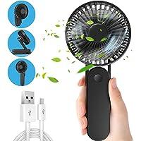 Jovego Mini Ventilador de Mano USB, Ventilador Portátil con 3000mAh Batería Recargable, Mini Ventilador Plegable con 3…
