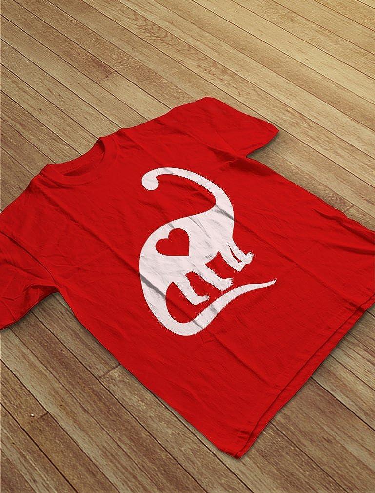 Dinosaur Love Heart Cute Toddler Kids T-Shirt TeeStars