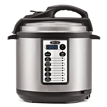 Amazon.com: BELLA 6 Quart Pressure Cooker with 10 pre-set ...