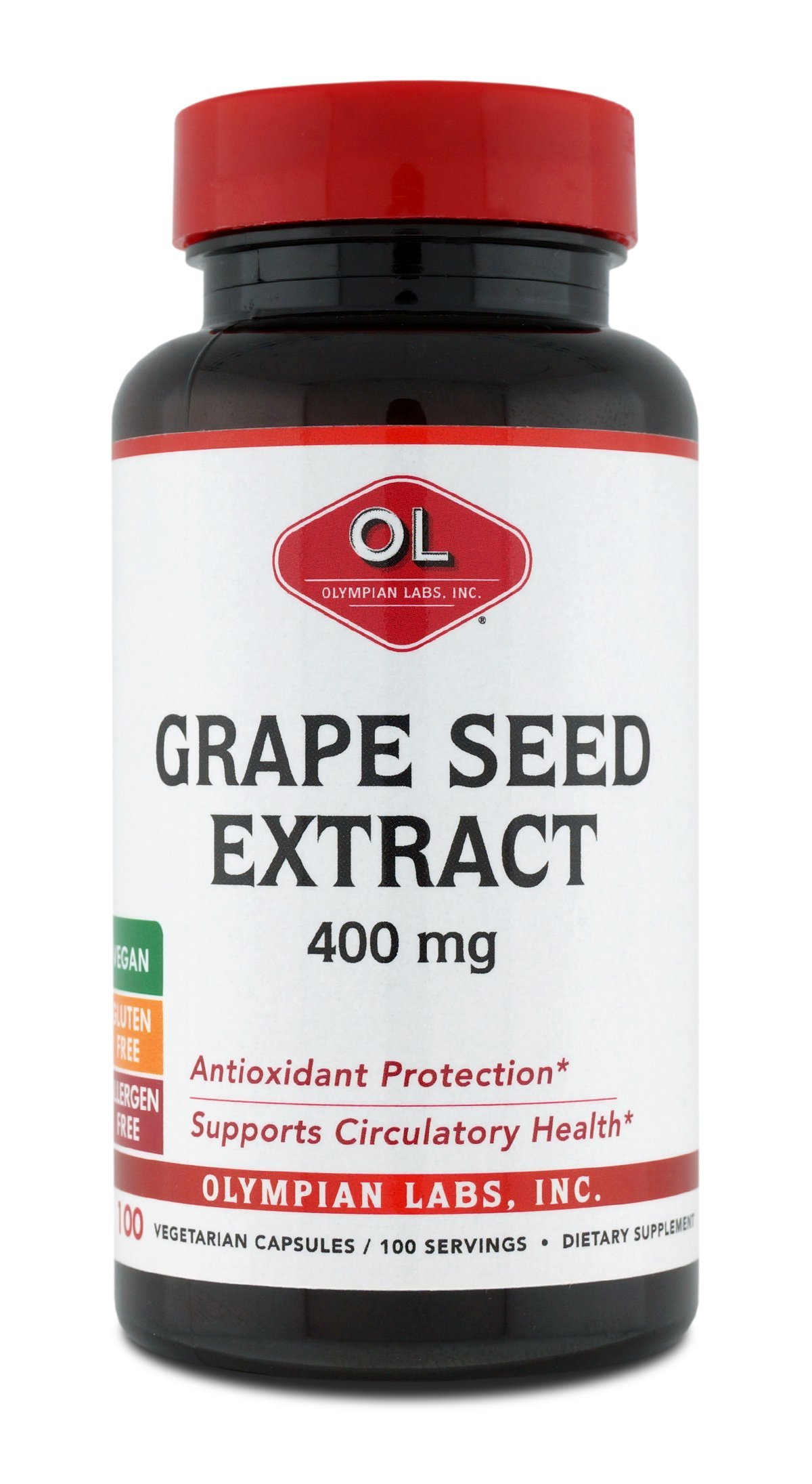 Olympian Labs Grape Seed Extract 400 mg, 100 Count