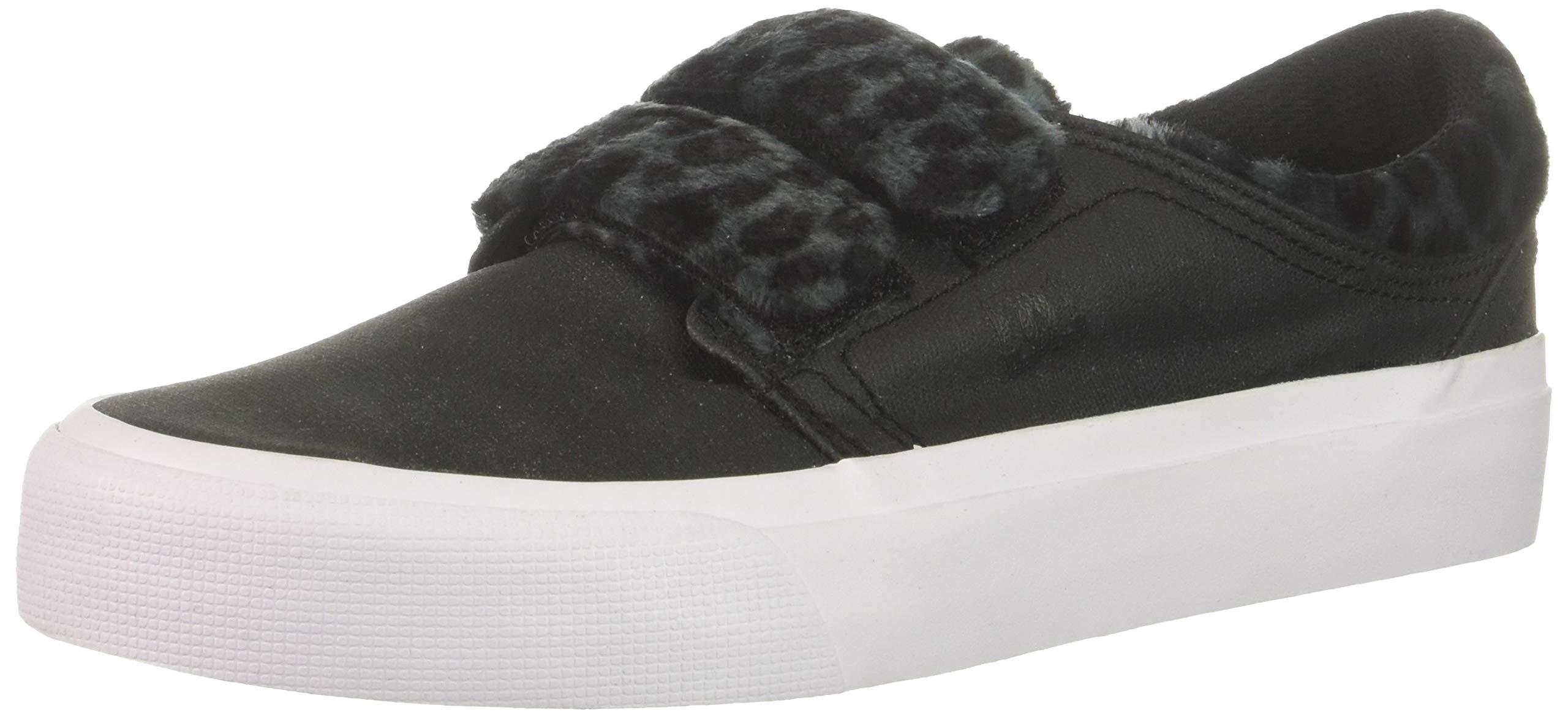 DC Women's Trase V TX SE Skate Shoe, Black/Leopard, 6 B M US by DC