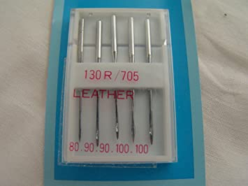 Hemline Sewing Machine Needles Mixed H104.99 Leather 5 Pack