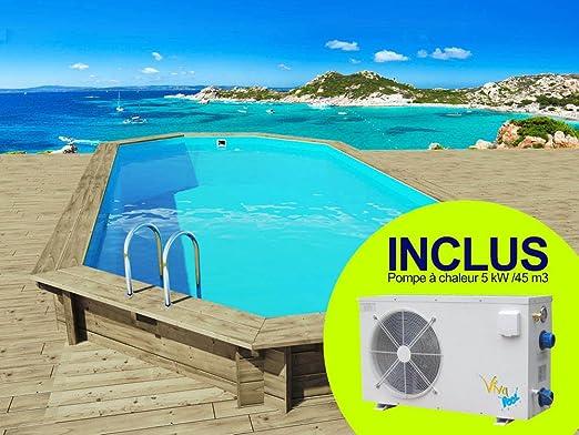 Habitat y jardín - Piscina madera Ibiza - 8.57 X 4.57 x 1.31 M + ...