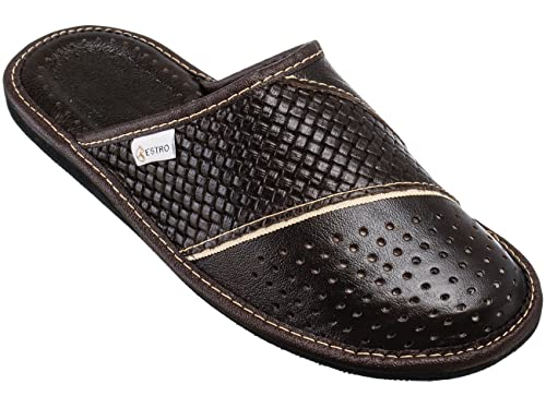Prime Estro Mens Slippers Mens Slipper Men House Shoes Leather Home Mule M66 Interior Design Ideas Ghosoteloinfo