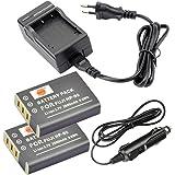 DSTE 2-pacco Ricambio Batteria + DC29E Caricabatteria per Fujifilm NP-95 FinePix F30 F31fd Real 3D W1 X100 X30 X100T X100LE X100S X-S1RICOH DB-90 GXR GXR Mount A12 GXR P10