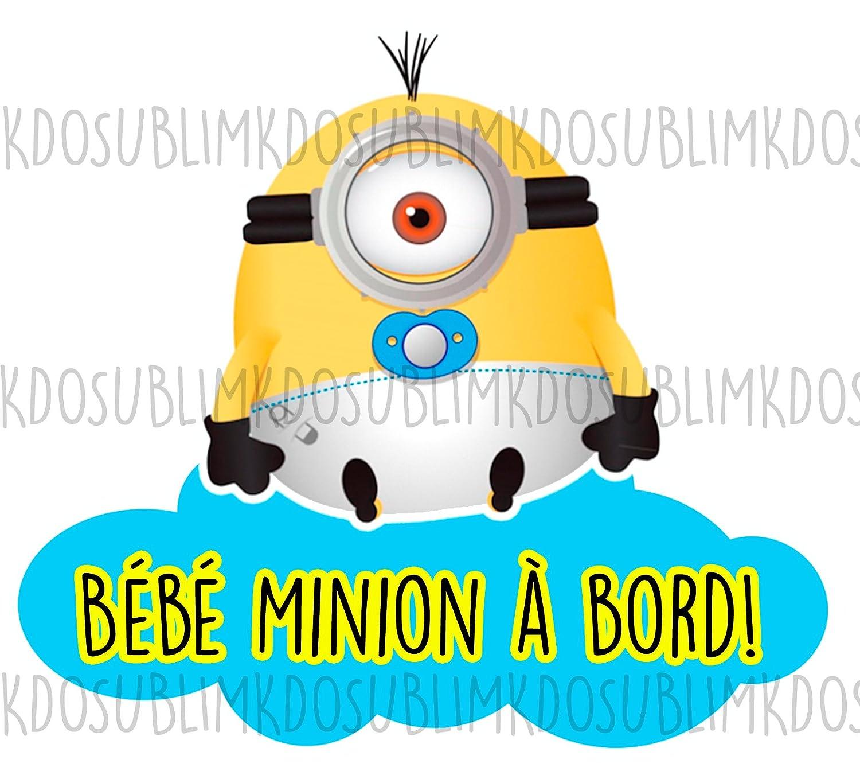Autocollants Bebe A Bord Autocollant Couleur Sticker Adhesif Bebe Minion A Bord Par Kdosublim Auto Et Moto Hovdenhoyfjellsenter No