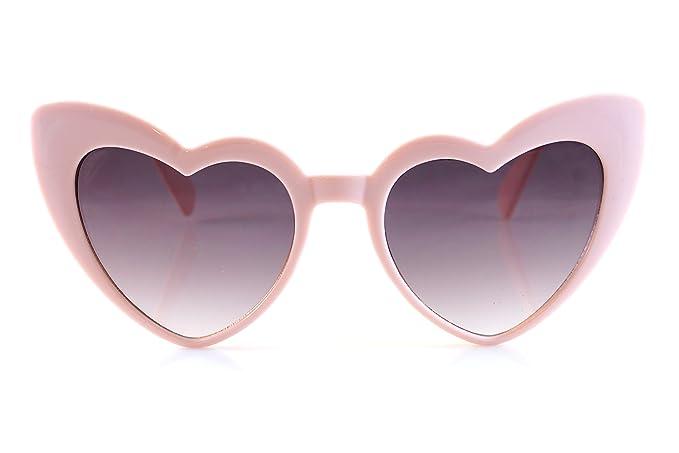 Amazon.com: FBL icónico Celebrity corazón Cat-eye humo lente ...