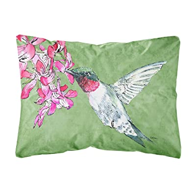 Caroline's Treasures 8886PW1216 Hummingbird Canvas Fabric Decorative Pillow, 12H x16W, Multicolor : Garden & Outdoor