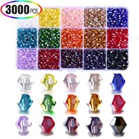 3000-Piece Xinfangxiu DIY Bicone 4mm Crystal Beads