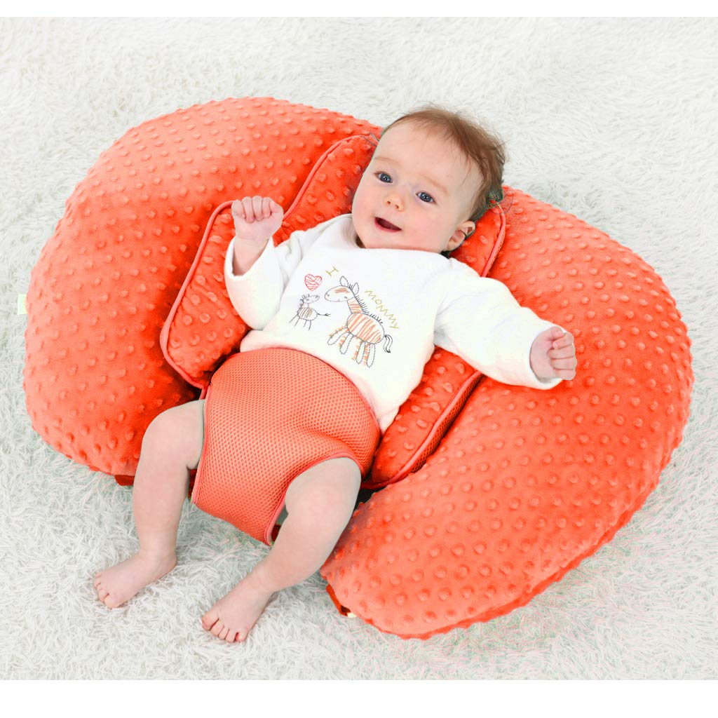KAKIBLIN Breastfeeding Pillow Red Multifunctional Baby Feeding Support Pillow Nursing Pillow Baby Pillow for Breast Suitable for 0-12 Months Newborn