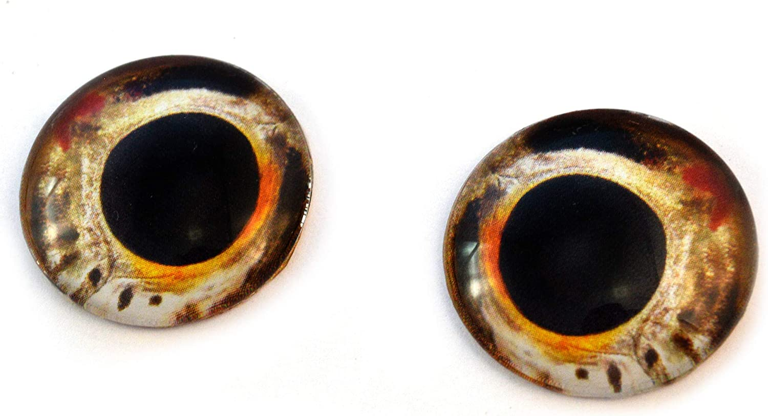10mm Light Brown Wolf Glass Taxidermy Eyes Animal Realistic Jewelry Art Supplies
