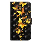 iPhone SE/iPhone 5 / iPhone 5s Case, UNEXTATI PU Leather Flip Folio Wallet Cover with Credit Card Holder and Magnetic Closure for Apple iPhone SE/iPhone 5 / iPhone 5s, Gold Butterfly