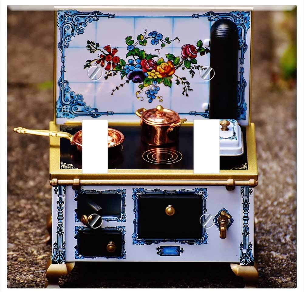 Switch Plate Double Toggle - Stove Oven Sheet Dolls Houses Dolls Furniture Heat 1