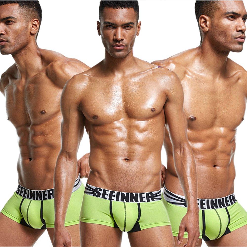 Yeke Men Underwear Underpants Boxer Cotton Trunk Shorts Brief 4Pcs//Set