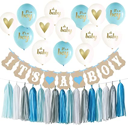BLUE /& GOLD TASSEL GARLAND Baby Shower Decorations Baby Shower Accessories