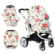 Aprince Baby Car Seat Cover Nursing Cover Breastfeeding Cover Soft Stretchy Multi-Use Cover for Nursing Baby Car Seat Stroller Scarf and Shopping Cart - Best Gifts