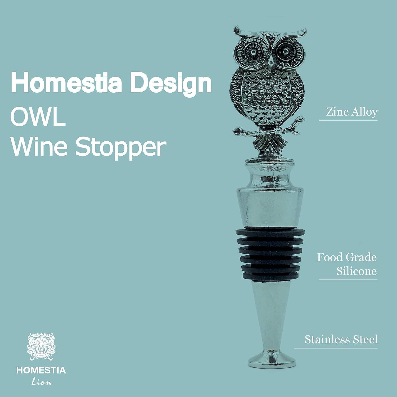 Homestia Wine Bottle Stopper Stainless Steel Crab Wine Stopper Reusable
