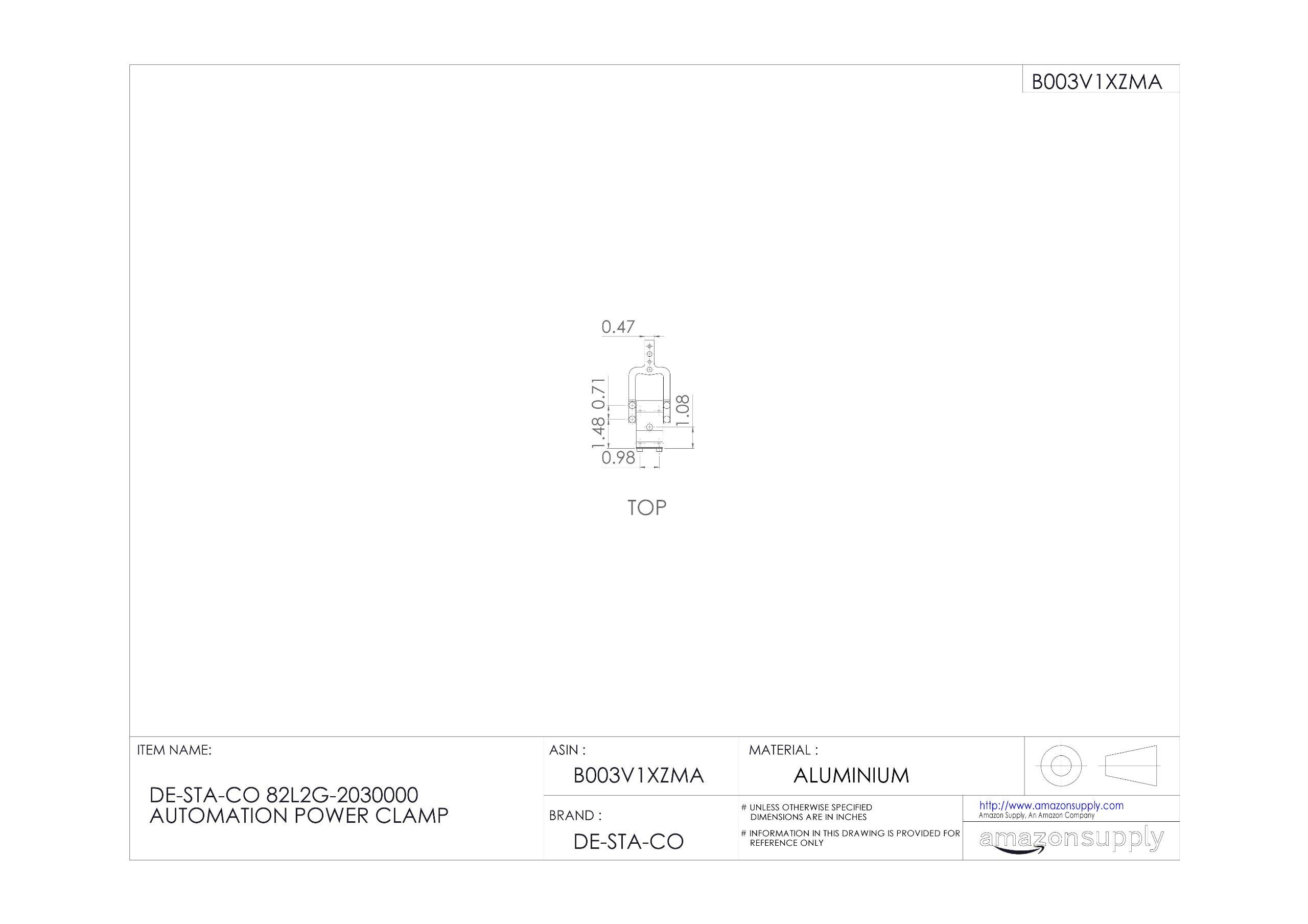 DE-STA-CO 82L2G-2030000 Automation Power Clamp by De-Sta-Co