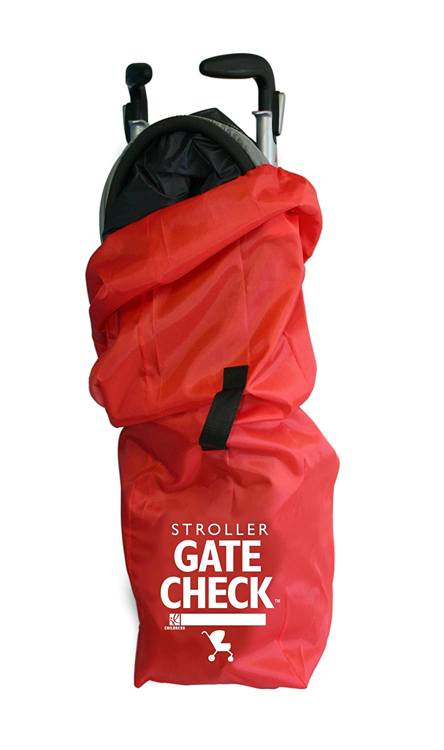 J.L. Childress Gate Check Bag for Single Umbrella Strollers, Durable and Lightweight, Water-Resistant, Drawstring Closure with Adjustable Lock, Webbing Handle, Includes Stretch Zipper Pouch, Red : Baby Stroller Travel Bags : Baby
