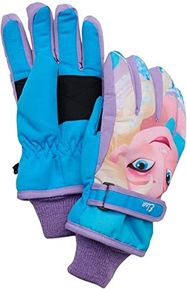 DISNEY FROZEN GLOVES WITH FLUFFY CUFFS 3 COLOURS NEW