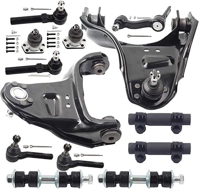 Front Lower Ball Joints Fit Steel Control Arms Only Complete 8-Piece Front Suspension Kit Chevy /& GMC Trucks- Both 4 2 Inner /& Outer Tie Rods All Press In
