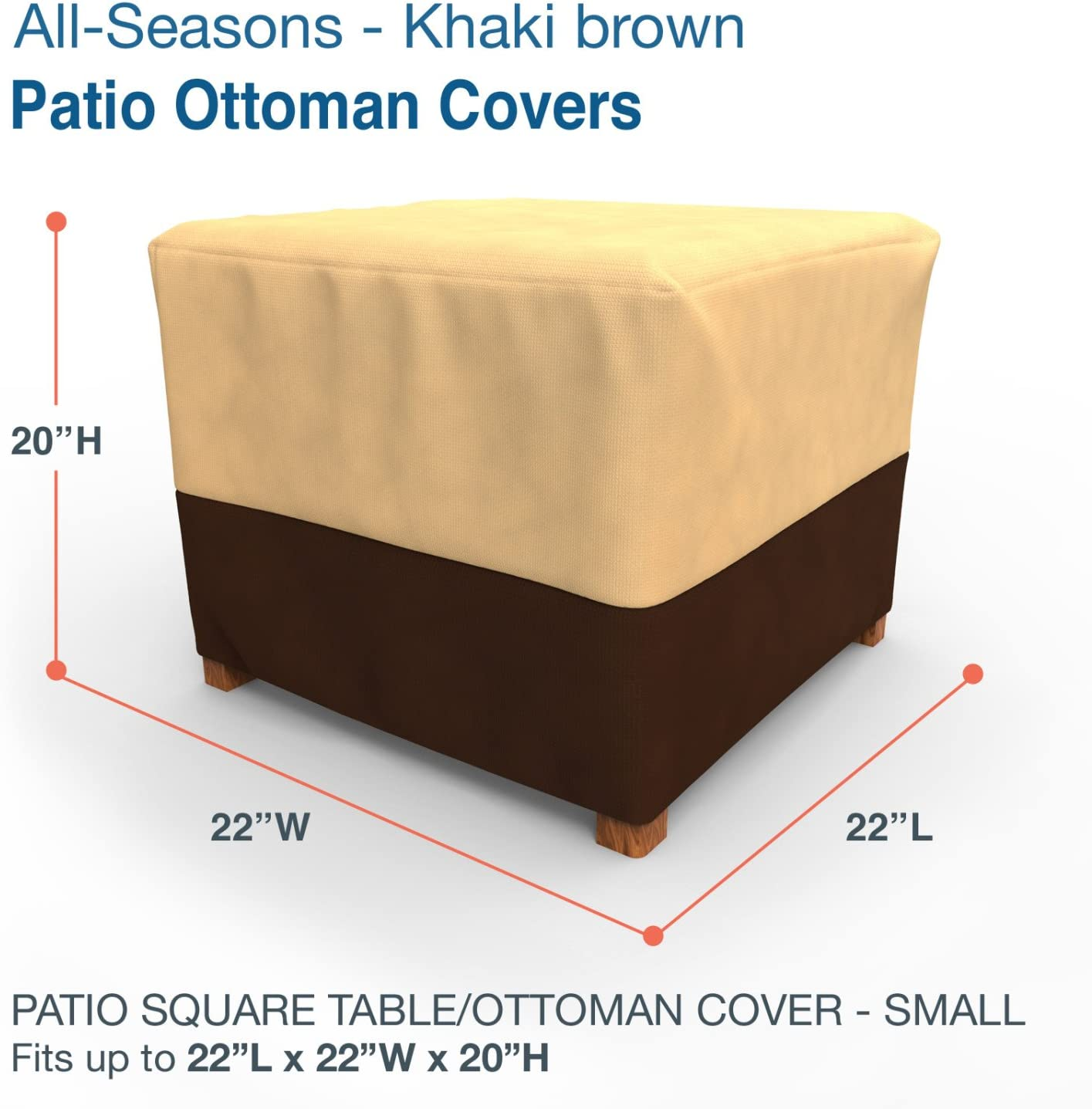 Amazon Com Budge P4a05kb1 All Seasons Table Cover Small Khaki Brown Garden Outdoor