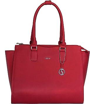 0f730ee90b2 Socha as Caddy Blush Designer Laptop Bag for Women Laptop 15.6 Red ...