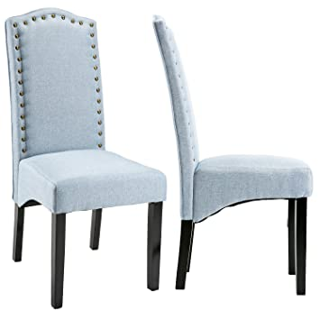 Amazon.com - Merax Script Fabric Accent Chair Dining Room Chair ...