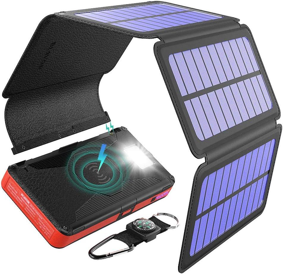 Cargador Solar Portatil Con Bateria De 20000mah Blavo (3PN3)