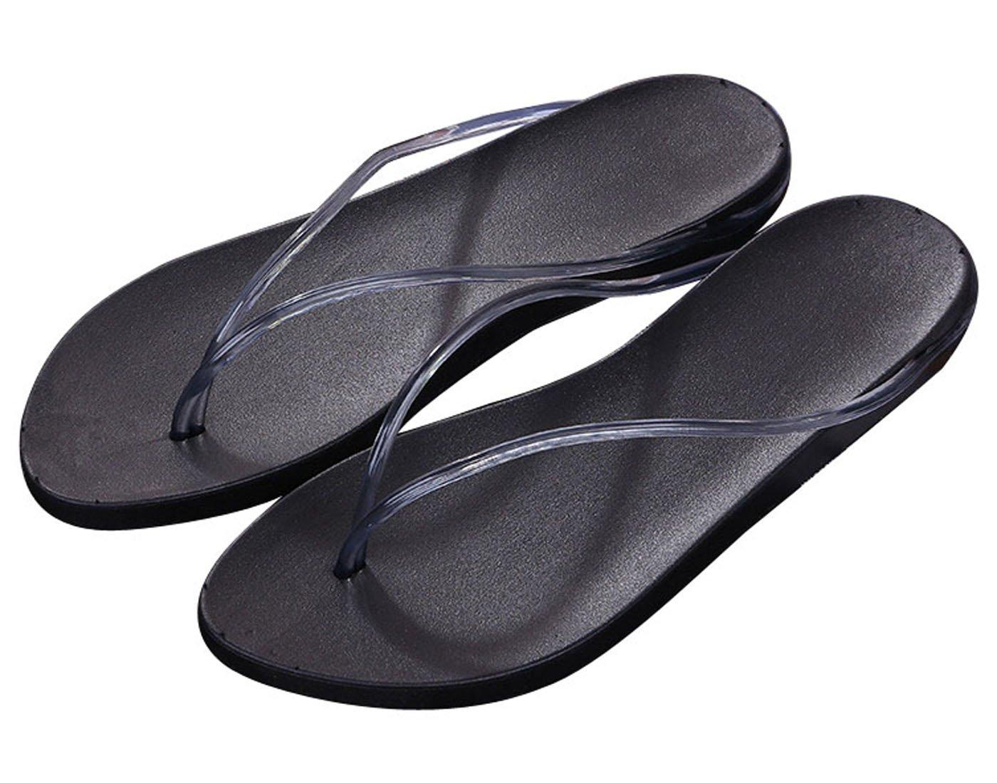 Zehentrenner Damen Slim Sandalen Schuhe Flats Thong Sandalen Sommer Schuhe Strand Flip Flop Hausschuhe  37 EU|Grau