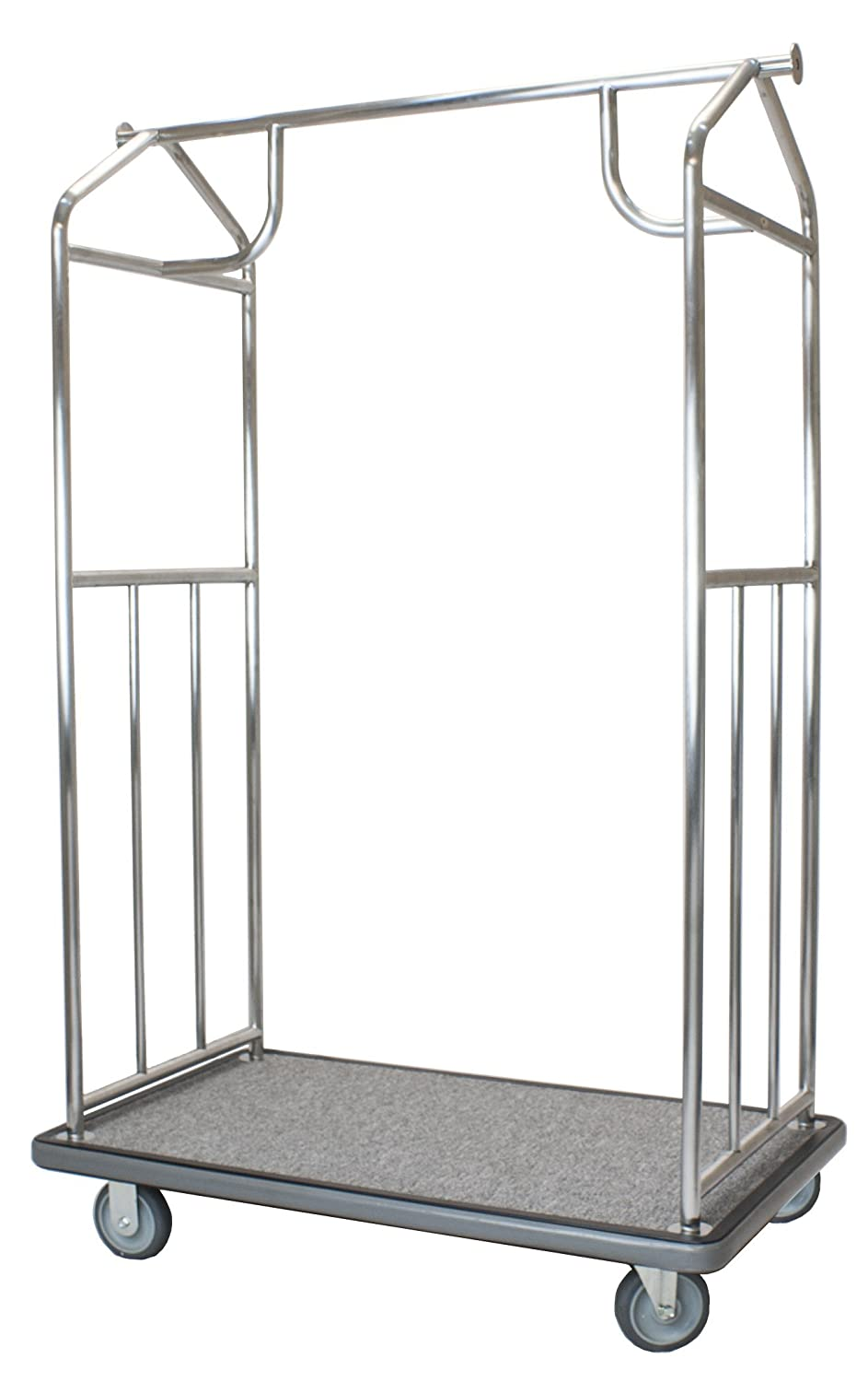 f648fae518b1 Wholesale Hotel Products Value Valet Bellman's Cart, Brushed Stainless  Steel Finish