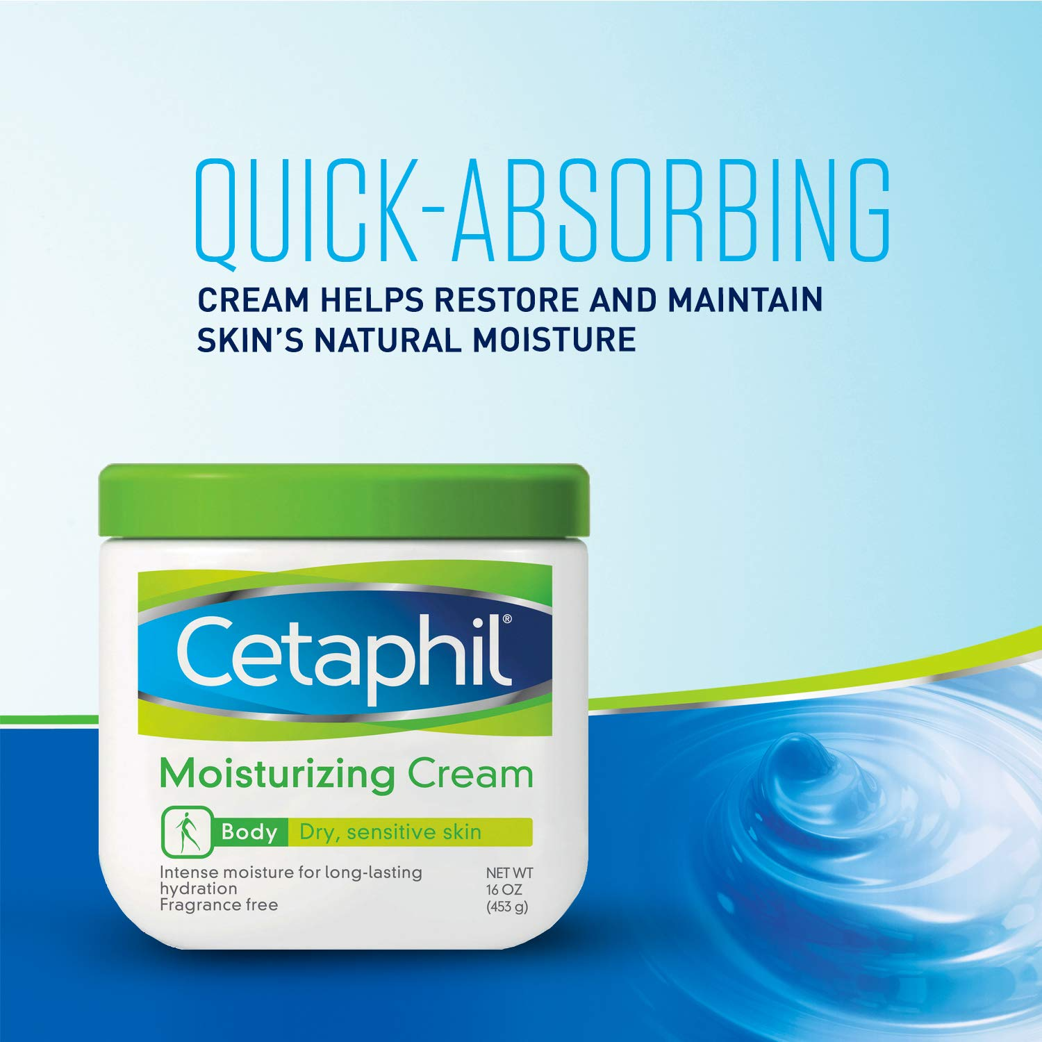 Cetaphil Moisturizing Cream for Very Dry/Sensitive Skin, Fragrance Free, 16 Ounce, Pack of 3 by Cetaphil (Image #3)