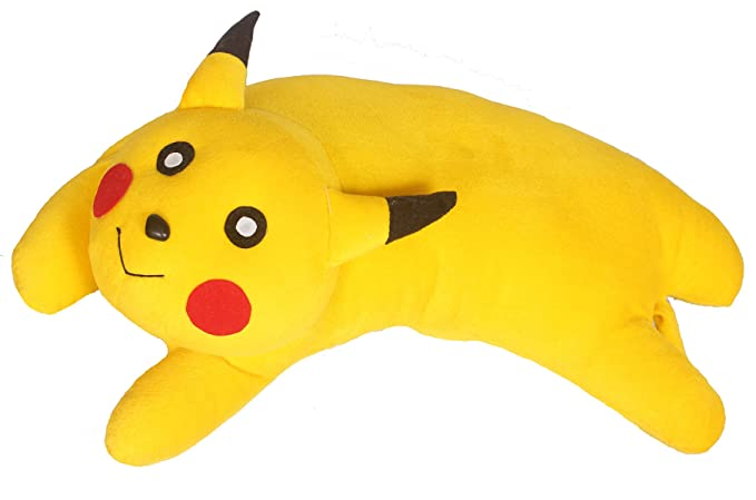Tickles Stuffed Animal Toys Soft Fluffy Plush Pikachu Bolster Pillow Cushion Best Gift for Lovers and Kids 48cm