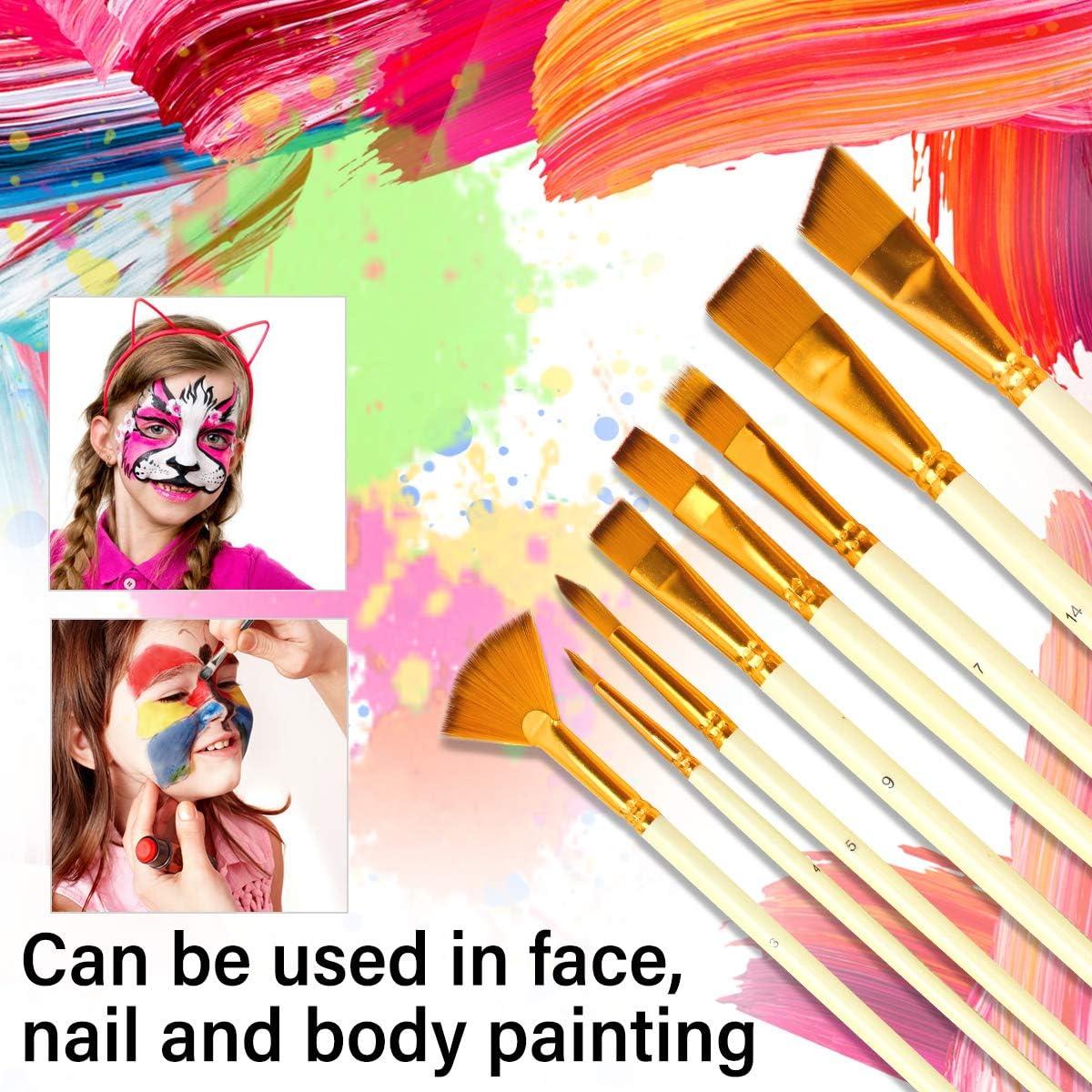 Juego de Pinceles 15 Unidades 2 Esponjas con 1 Rascador Pinceles de Artista,Pinceles de Pintura al /Óleo,Pinceles de Arte,Pinceles de Pintura Acr/ílica para Pintar al /Óleo//Acr/ílica//Acuarela