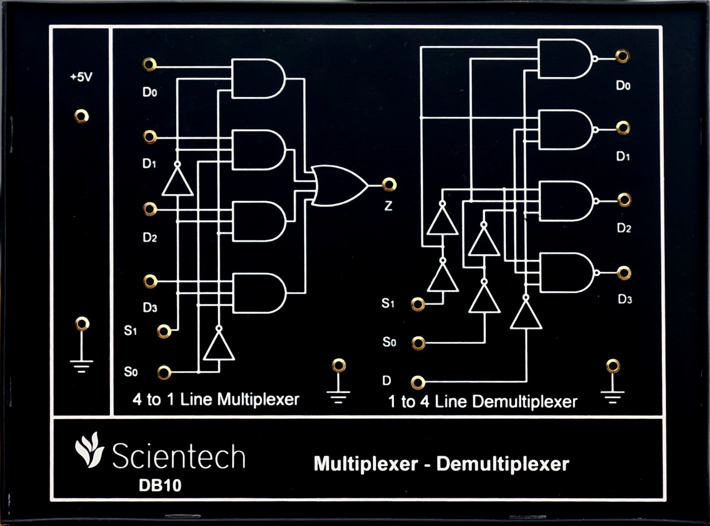 Db10 Multiplexer Demultiplexer Experiment Board And Trainer Kit Logic Diagram With 1 Year Warranty