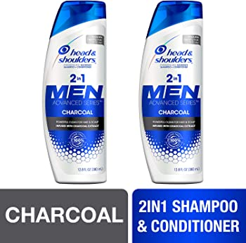 2-Pack Head & Shoulders Anti Dandruff Charcoal Shampoo and Conditioner
