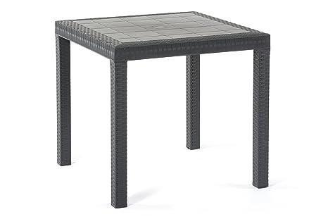 Tavoli Da Giardino Risparmio Casa : Bica 9096.4 dallas tavolo antracite 107x82x7.5 cm 80x80x74 cm
