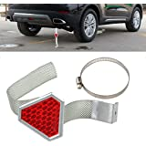 beler Red Universal Car Metal Anti-static Reflective Strap Safe Earth Belt Ground Wire Reflector Warning Band
