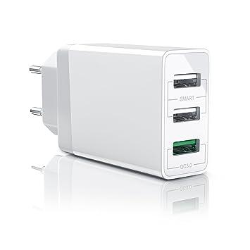 Quick Charge 30W Cargador de Red Móvil de 3 puertos: Amazon ...