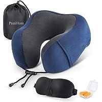 PretiHom Memory Foam Travel Pillow
