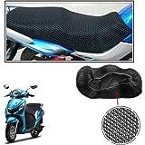 Vheelocityin No Heat Net Seat Cover Motorcycle / Bike/ Scooty Seat Cover For Yamaha Fascino