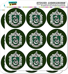 Harry Potter Slytherin Painted Crest Planner Calendar Scrapbooking Crafting Stickers