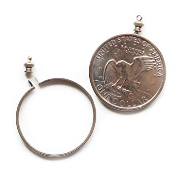 Amazon dollar usa 1 coin holder bezel for charm necklace dollar usa 1 coin holder bezel for charm necklace pendant display mozeypictures Choice Image